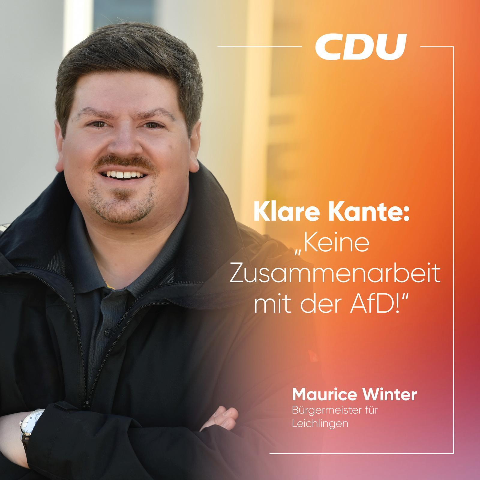 Klare Kante: Keine Zusammenarbeit mit der AfD